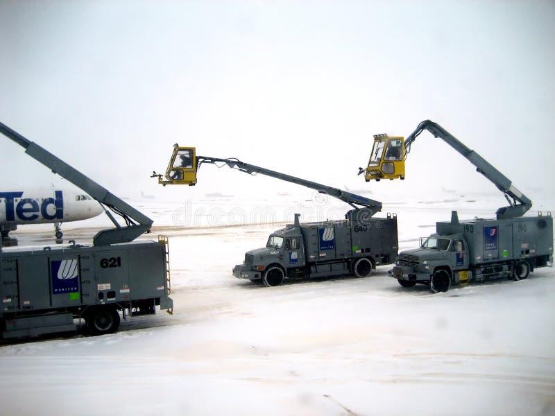 деятельности v2 самолета deicing стоковое фото