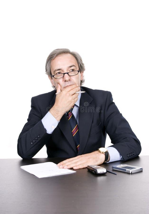 деятельность бизнесмена возмужалая стоковое фото