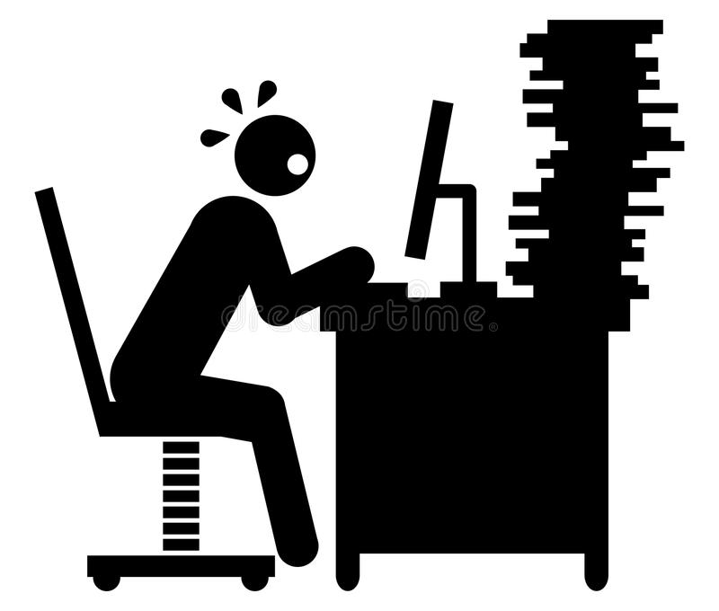 деятельность бизнесмена трудная иллюстрация штока