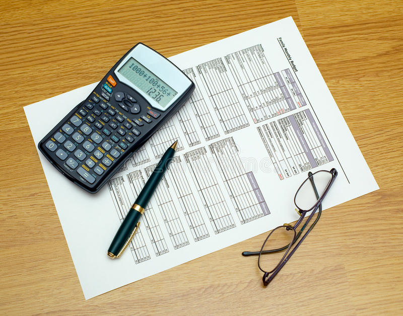 деятельность бюджети стоковое изображение
