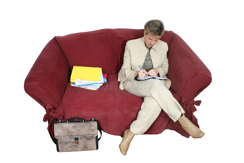 деятельность женщины дома кресла дела Стоковые Изображения RF