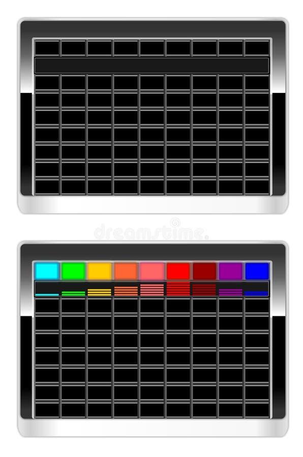 деятельность панели клавиатуры иллюстрация штока
