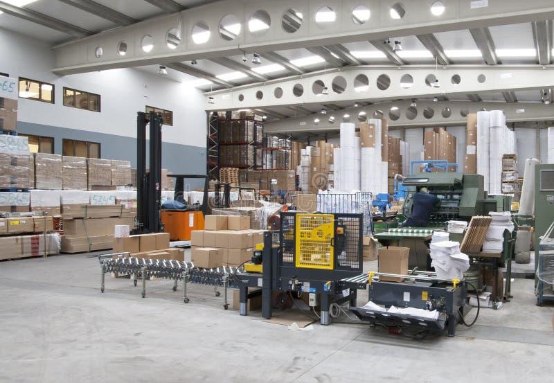 деятельность печатания промышленного завода стоковое фото