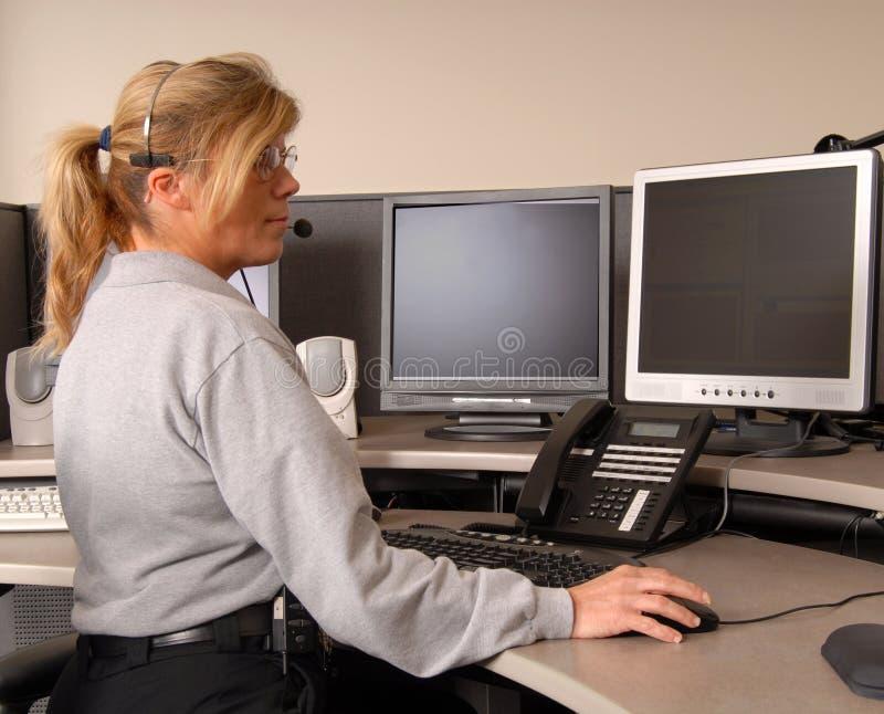 деятельность полиций диспетчера стоковые изображения