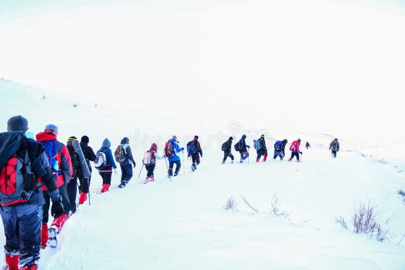 Деятельность при зимы и взбираясь стоковое фото