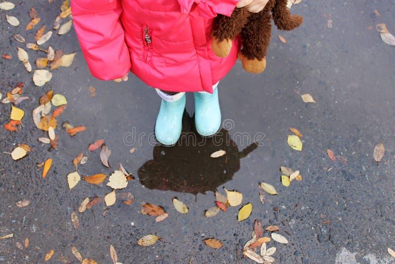 Деятельность при осени ребенка стоковое изображение rf