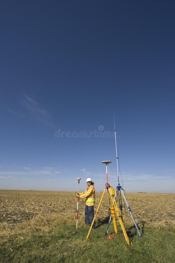деятельность съемщика земли gps стоковая фотография
