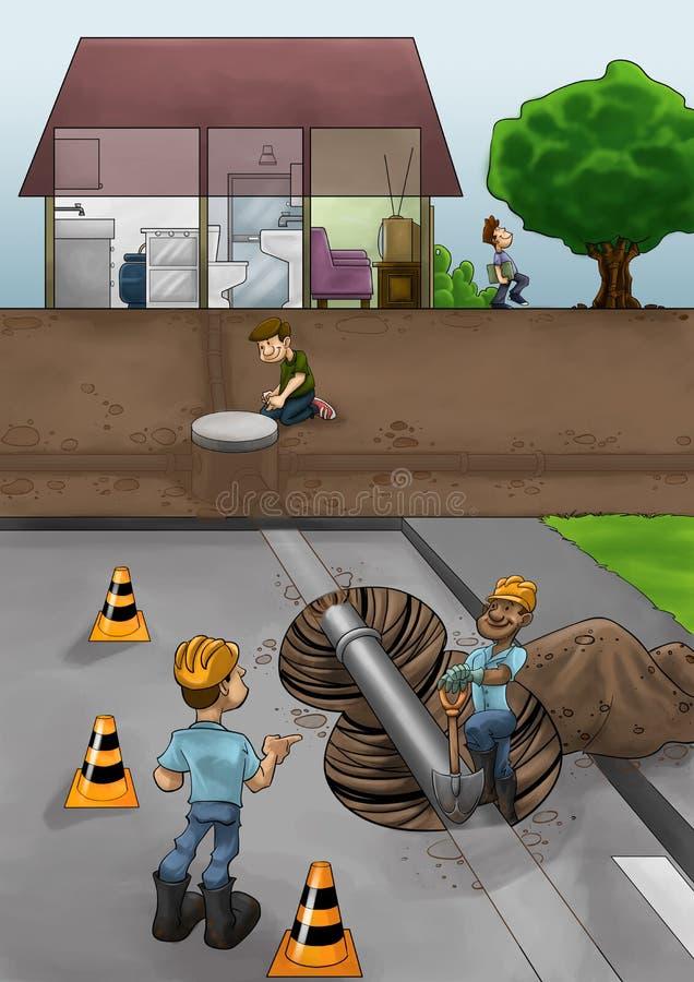 деятельность улицы иллюстрация штока