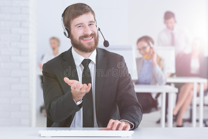 Деятельность человека как представитель обслуживания клиента стоковые фото