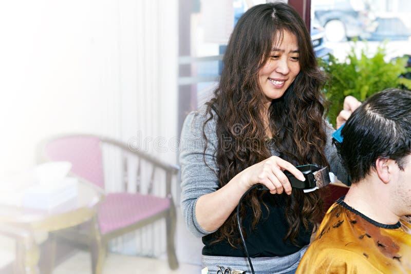 деятельность hairstylist стоковое изображение rf