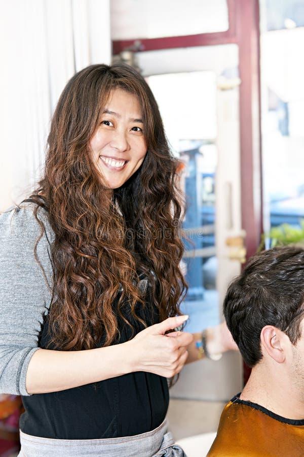 деятельность hairstylist стоковое изображение