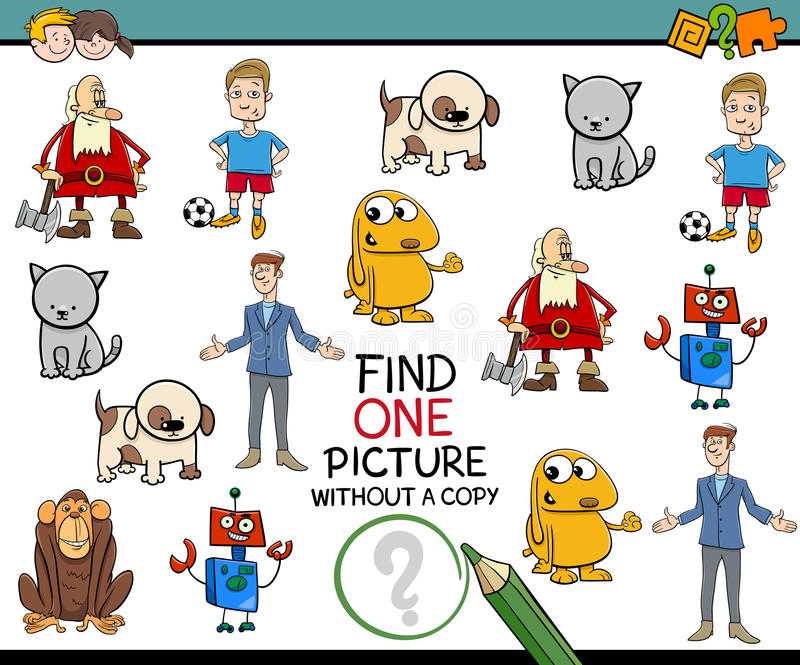 Деятельность при изображения находки для детей иллюстрация вектора