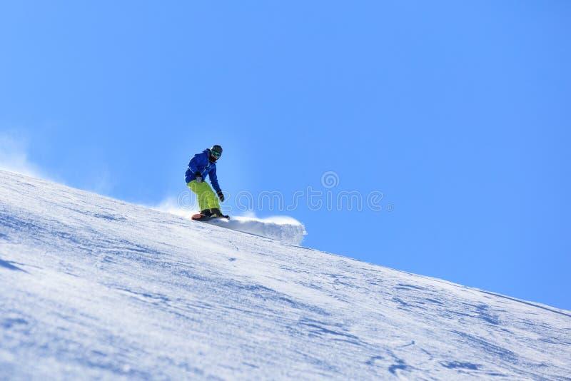 Деятельность при сноубординга зимы стоковые изображения