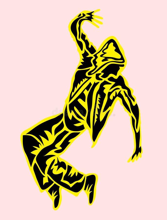 Деятельность при человека и силуэт современного танца танца пролома хмеля бедра бесплатная иллюстрация