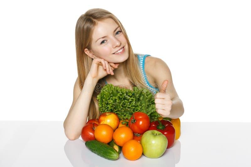 Делать выборы здорового питания стоковые изображения rf
