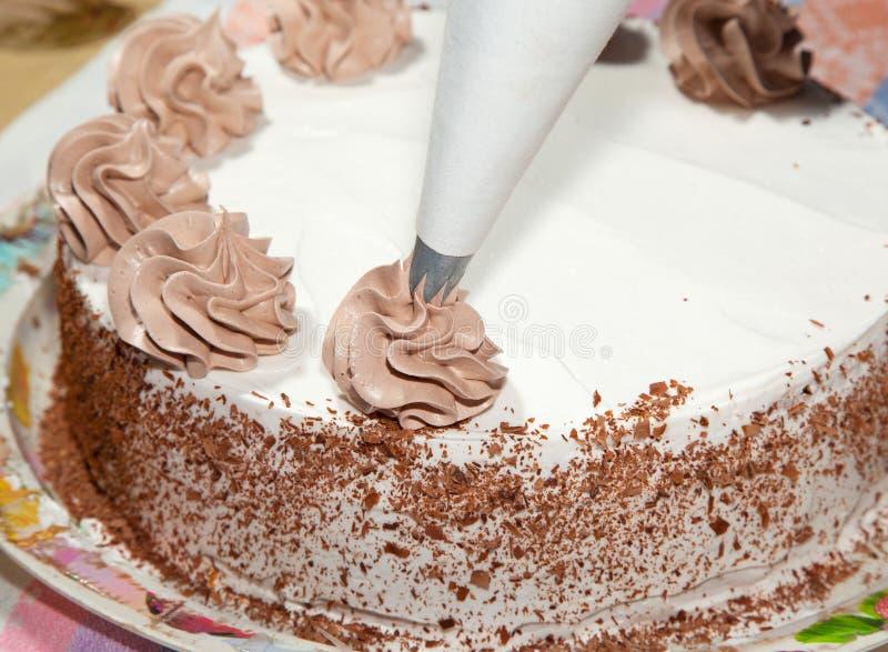 Делать из торта стоковое изображение rf