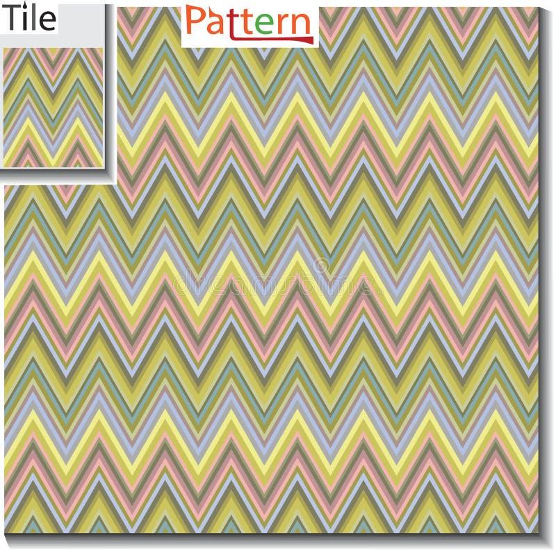 Делать и stripe линия плитка с картиной образца Illustra вектора иллюстрация штока
