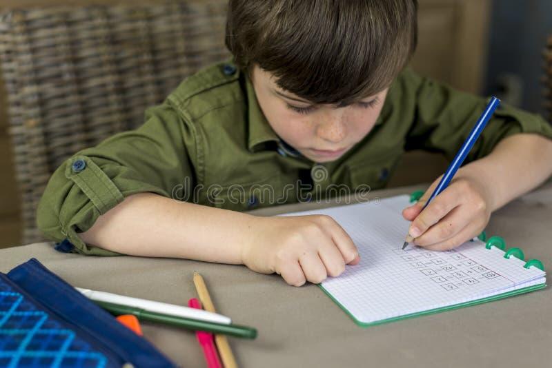 Делать домашнюю работу стоковое фото