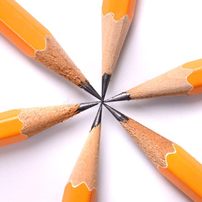 Делать пункт с карандашами стоковые фотографии rf