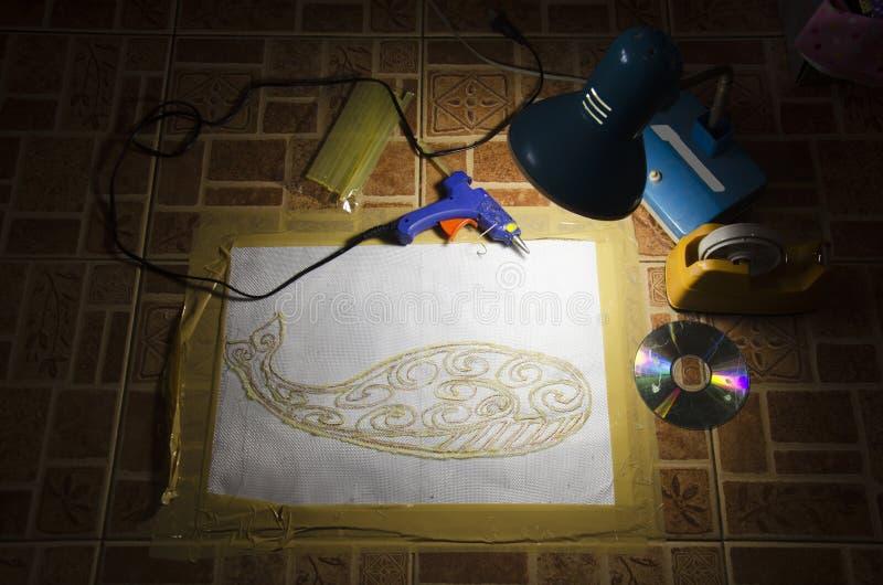 Делающ картины для батика и связи краски покрасьте цвет на моей мастерской стоковые фотографии rf