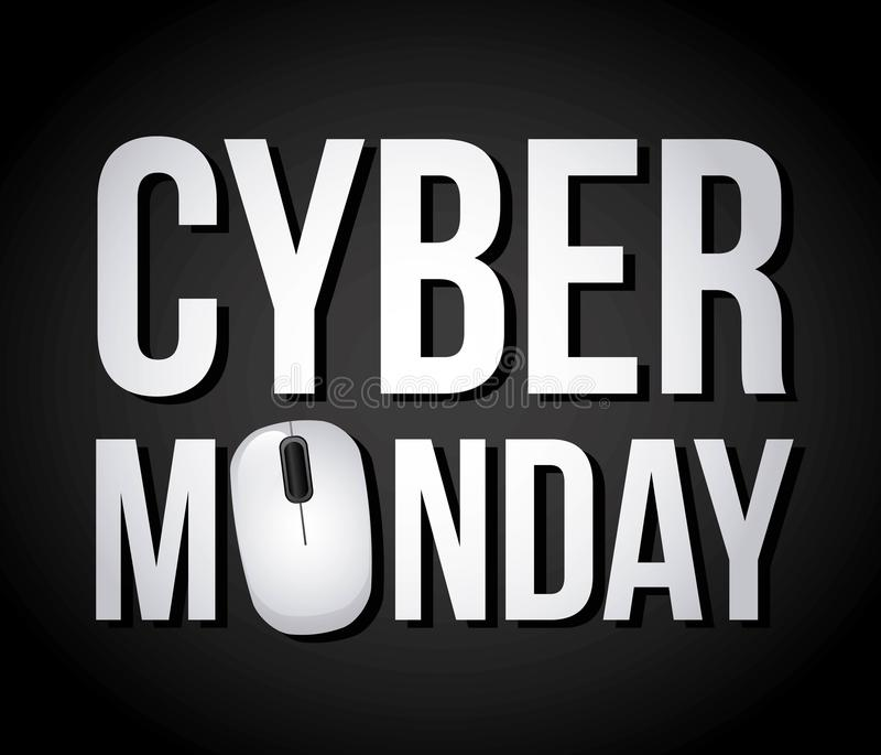 Дела понедельника кибер бесплатная иллюстрация