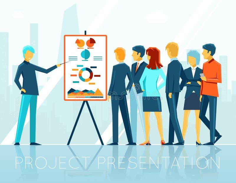 Деловая встреча, представление проекта бесплатная иллюстрация
