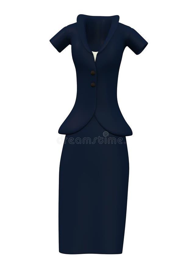 Деловой костюм женщин иллюстрация вектора