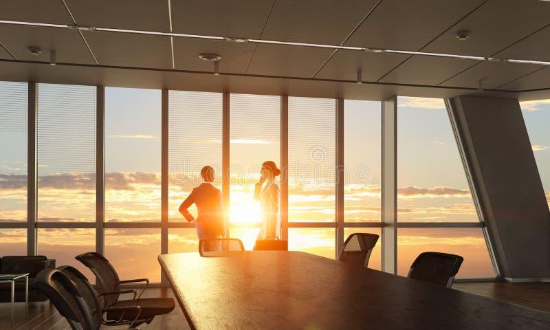 Download Деловые партнеры смотря на новый день Мультимедиа Стоковое Изображение - изображение насчитывающей корпоративно, утро: 81809445