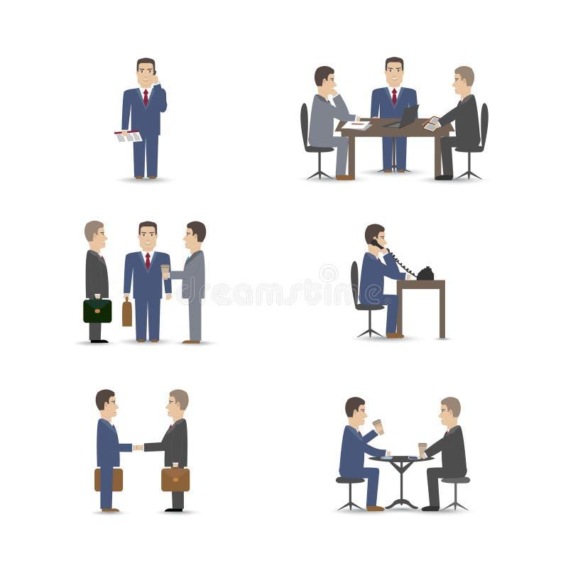 Деловые переговоры иллюстрация штока