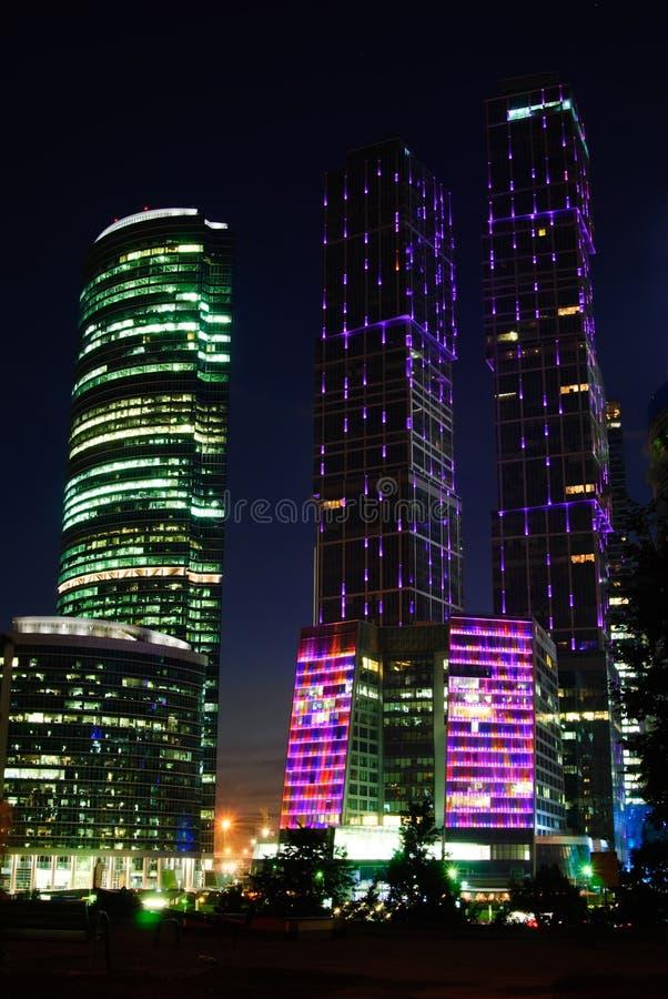 Деловый центр города Москвы, Москва, Россия стоковые фотографии rf