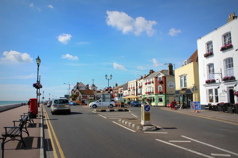 Дело Англия улицы пляжа стоковая фотография rf