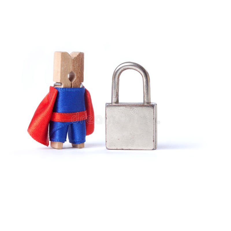 Дело безопасности, концепция safeness locked padlock стоковое фото