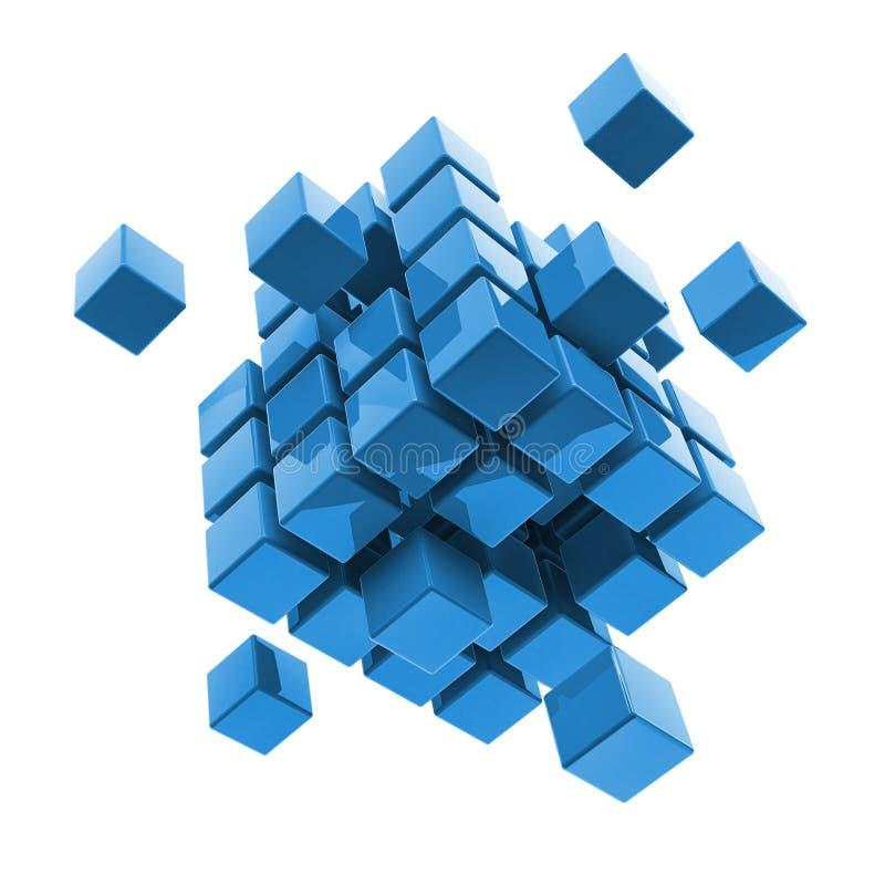 Дело, интернет, блок концепции связи бесплатная иллюстрация