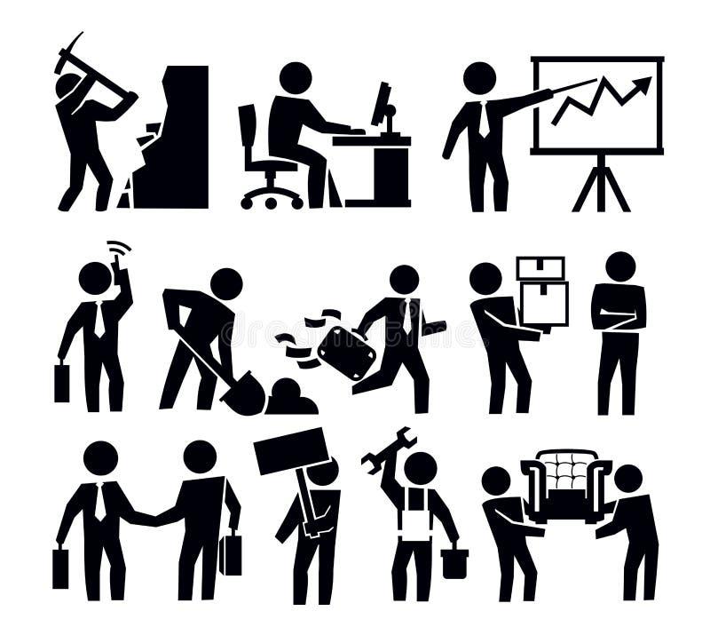 Дело и работник иллюстрация штока