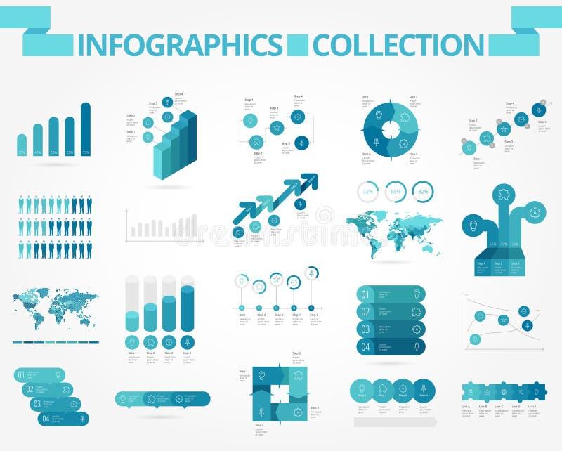 Дело и социальное infographics иллюстрация штока