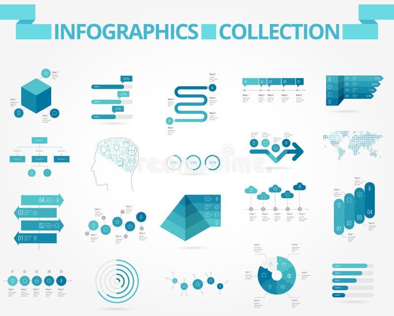 Дело и социальное infographics иллюстрация вектора