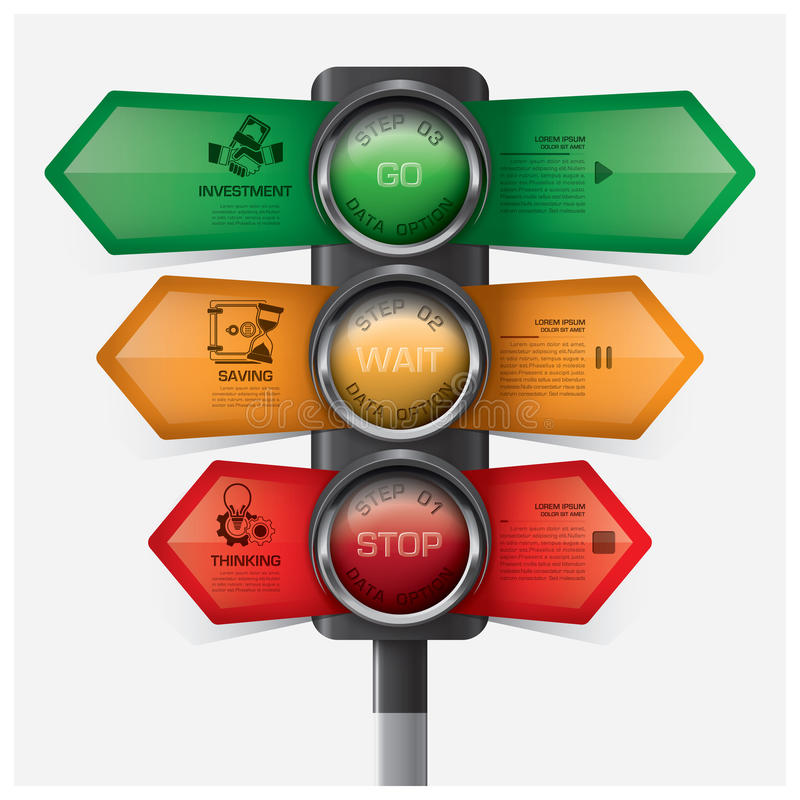 Дело и финансовое с знаком Infographic Diagr светофора бесплатная иллюстрация