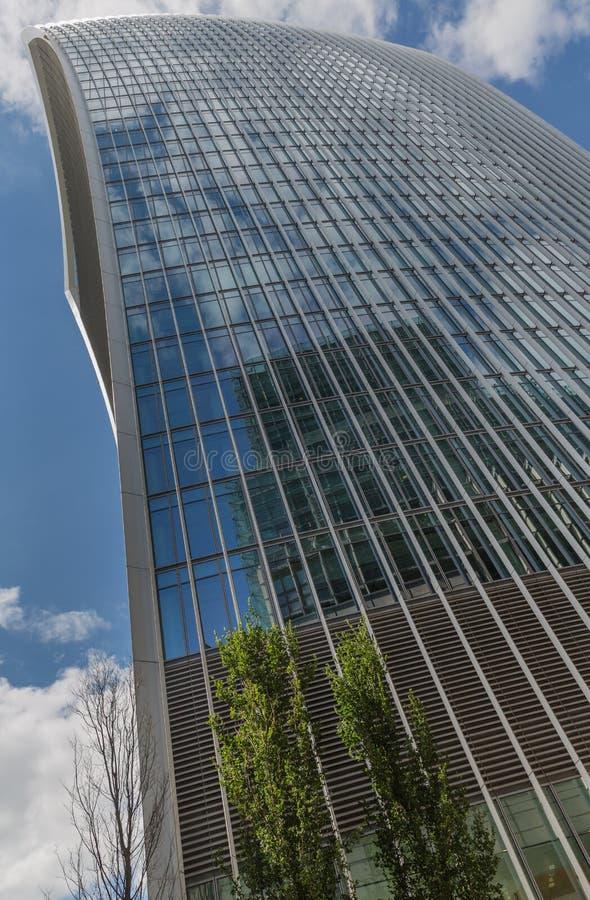Дело и финансовый район Лондона в Великобритании стоковая фотография rf