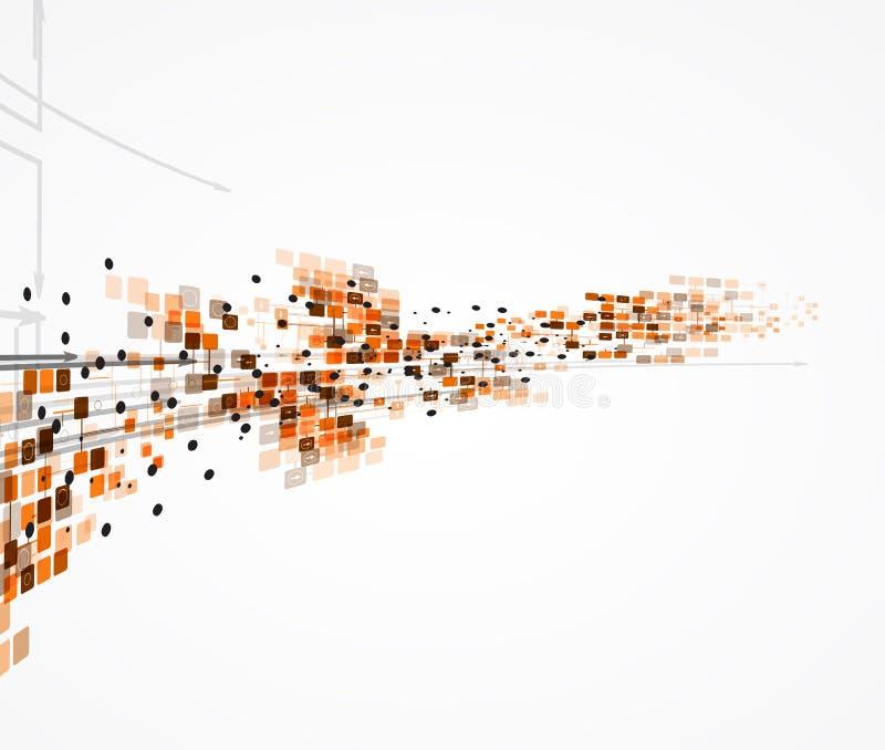 Дело компьютерной технологии футуристического интернета науки высокое иллюстрация штока