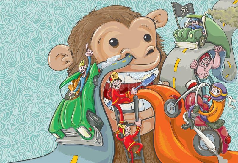 Дело обезьяны бесплатная иллюстрация