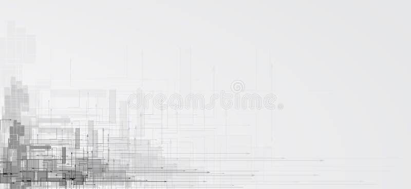 Дело предпосылки абстрактной технологии & направление развития иллюстрация штока