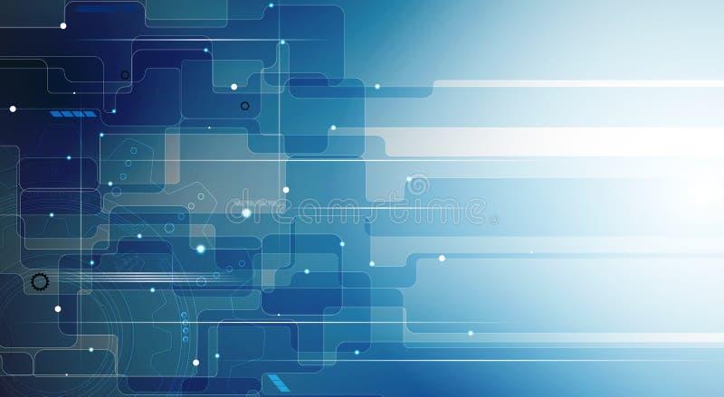 Дело & развитие предпосылки абстрактной технологии иллюстрация вектора