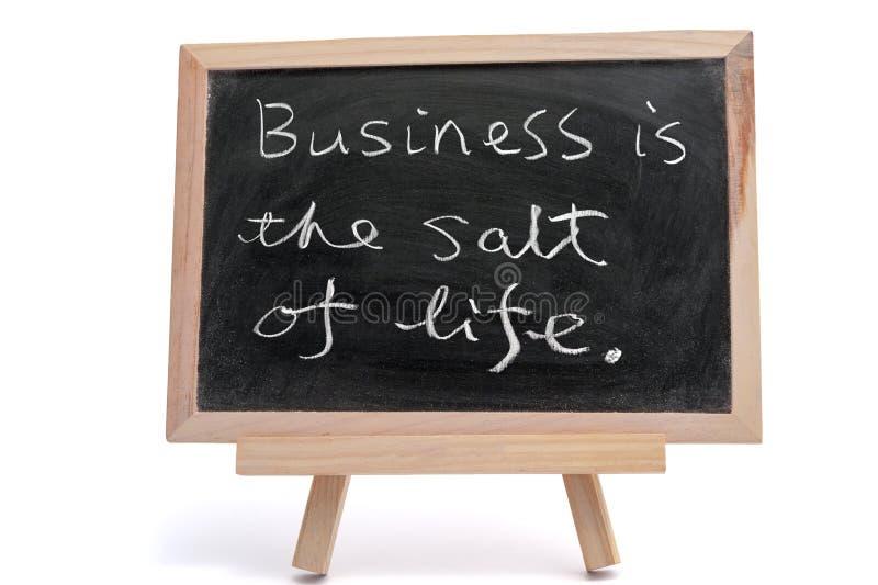 Дело соль жизни стоковое изображение
