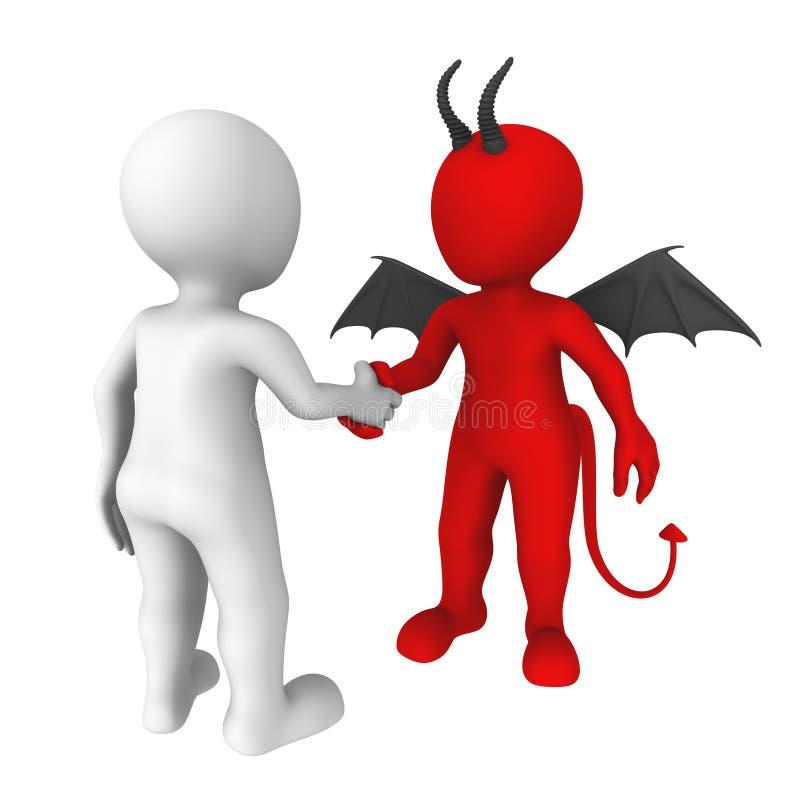Дело с дьяволом иллюстрация вектора