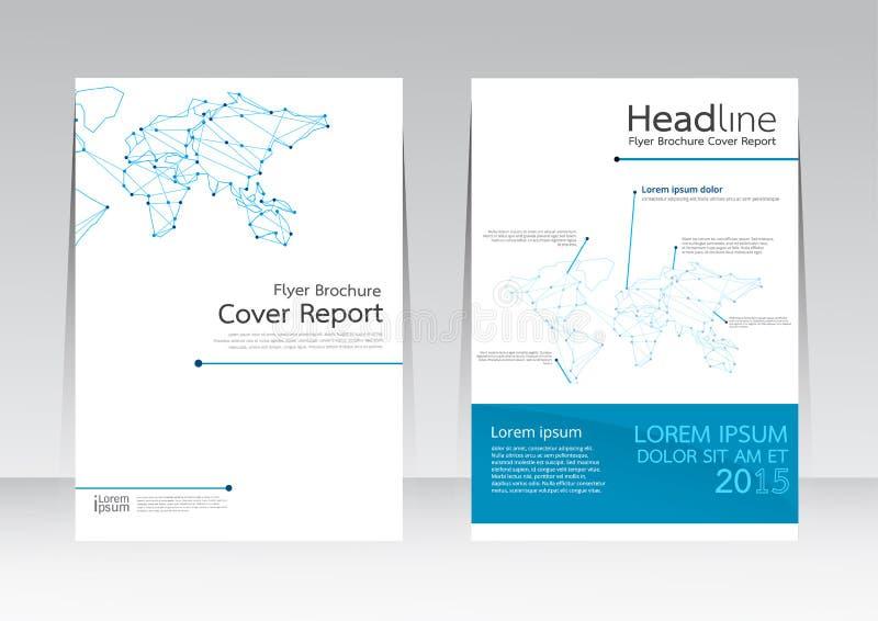 Дело технологии дизайна вектора для плаката рогульки брошюры отчете о крышки в размере A4 бесплатная иллюстрация