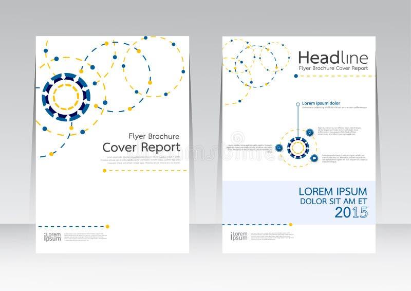 Дело технологии дизайна Ector для плаката рогульки брошюры отчете о крышки в размере A4 иллюстрация штока