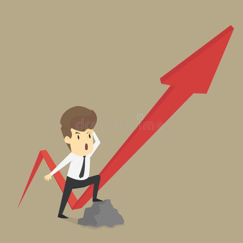 Дело указывая увеличения дохода стрелки иллюстрация вектора