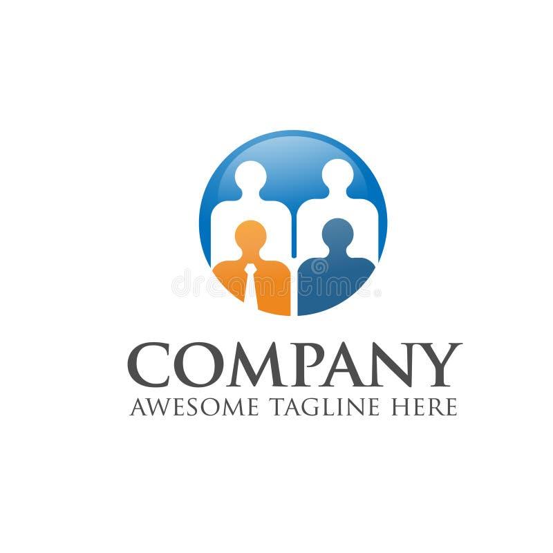 Дело, штат, работник, деятельность, вектор логотипа руководителя иллюстрация штока