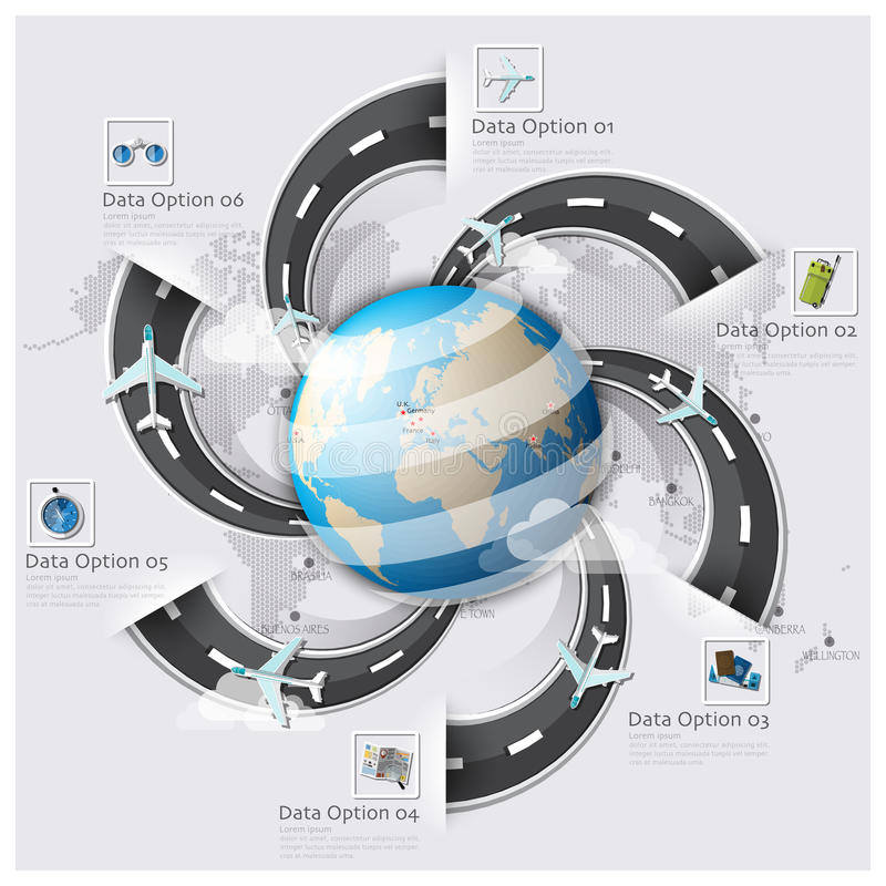 Дело Inf карты мира перемещения и путешествия взлётно-посадочная дорожка дороги и улицы бесплатная иллюстрация