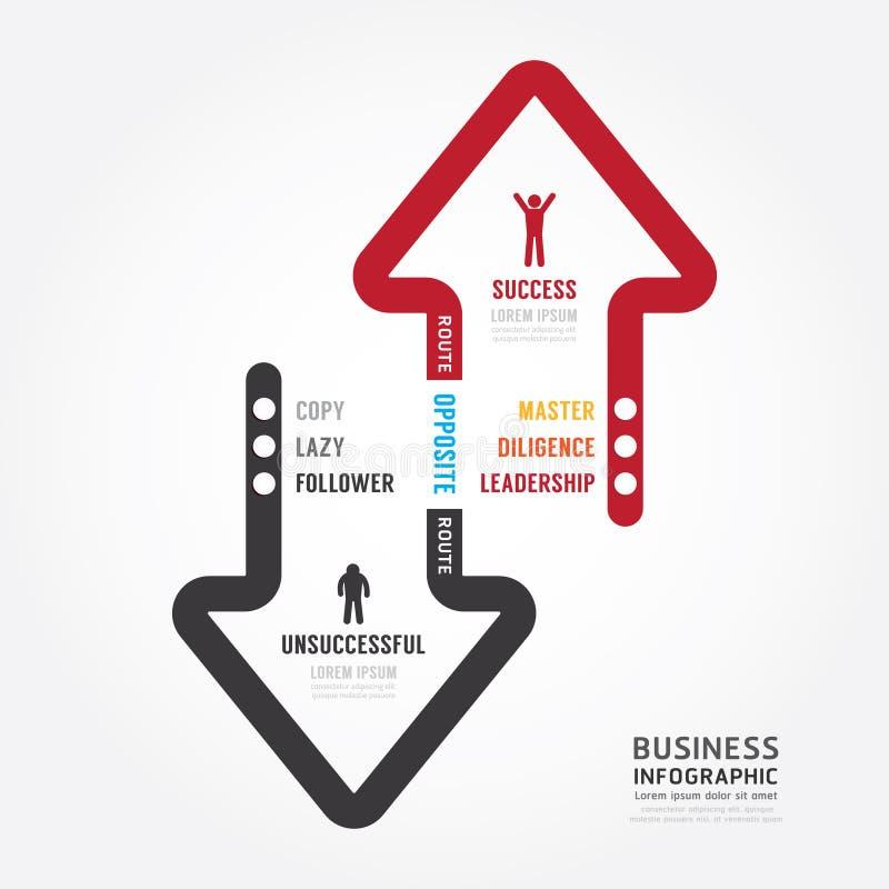 Дело Infographic трасса к дизайну шаблона концепции успеха иллюстрация вектора